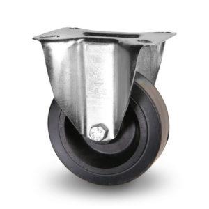 Värmebeständiga hjul - gummi - rostfritt