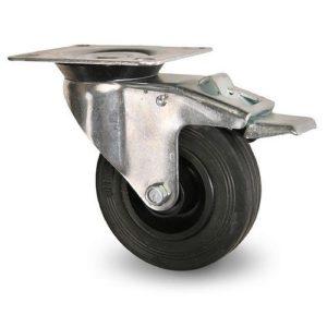 Industrihjul - Svart gummibana