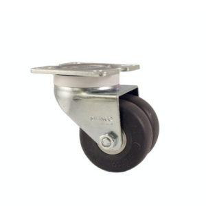 Dubbelhjul - kraftiga - gummi