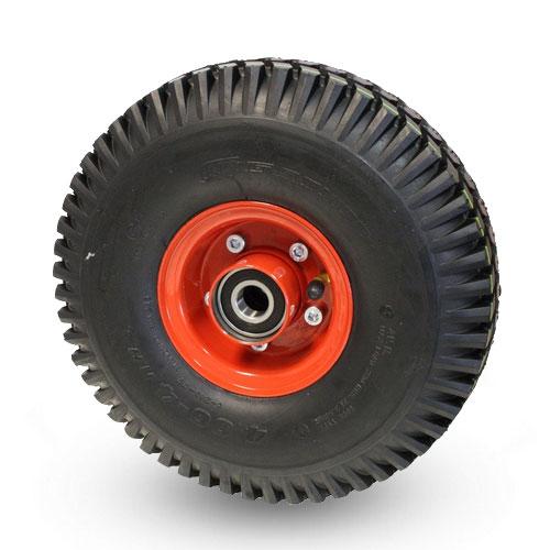 Lösa luftgummihjul med plåtfälg