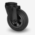 Industrihjul - Design - Svart gummibana