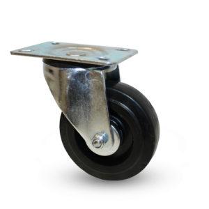 Industrihjul - Elastisk gummibana - Svart