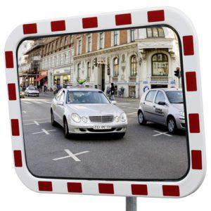 Trafikspegel med reflexram. Polycarbonat.