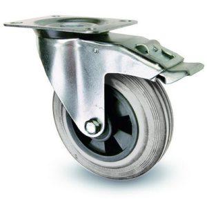 Industrihjul - Grå gummibana