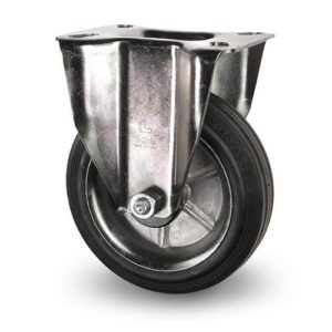 Industrihjul - Gummibana med plåtfälg